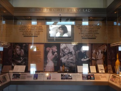 The Presidential Libraries are privately funded but then managed and maintained by the government; the largest Presidential Library is LBJ's in Austin