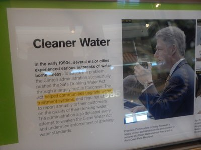 Clinton pushed the Safe Drinking Water Act through Congress to upgrade water treatment facilities and require localities to report the quality of their water to consumers