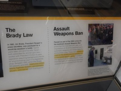The Assault Weapons Ban lasted 10 years but under President George W. Bush was not renewed; Presidents Ford, Carter and Reagan had all supported the ban
