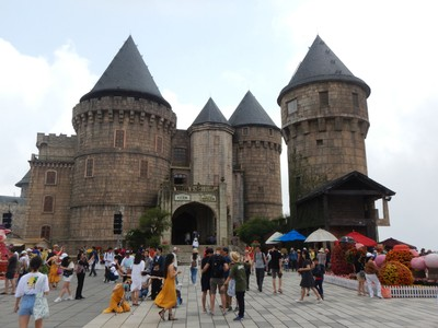Fantasy Park, located in the castle, is Vietnam's largest indoor game zone (it was on 3 levels); the castle also has Vietnam's first wax museum which we skipped (it cost a little extra)