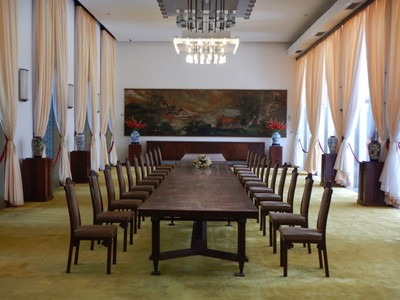 The state banqueting hall at Independence Palace; the last state dinner held here was on April 1, 1975