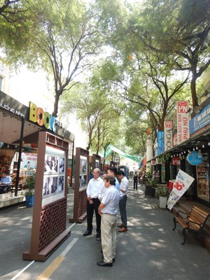I just loved Book Street which is a pedestrianized, tree-lined street next to the post office; it's lined with bookstores but most sold books only in Vietnamese