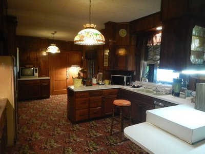 The kitchen wasn't opened to the public until 1995 since Elvis's aunt Delta used it until her death in 1993; Elvis redecorated often but his taste seemed to remain the same