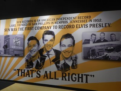 There was a copy of Sun's first recording studio as well as tributes to those that helped Elvis become famous; the exhibits cost a little extra above the Graceland tour but were well worth it