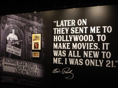 Elvis made 33 movies, most in the 1960s; his manager, Colonel Tom Parker, was an illegal immigrant from the Netherlands who previously worked as a carnival barker