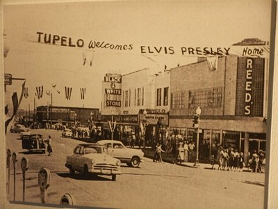 Elvis was 13 when his family moved from Tupelo to Memphis although he returned for a concert in 1956; in Tupelo, you can see the shotgun house where Elvis grew up