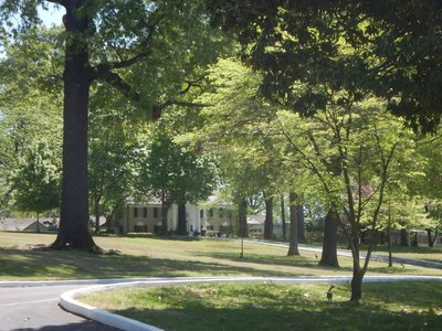 Graceland is the second most visited house in the US after the White House; it sits on 14 acres, 9 miles from downtown Memphis and 4 miles north of the Mississippi state line