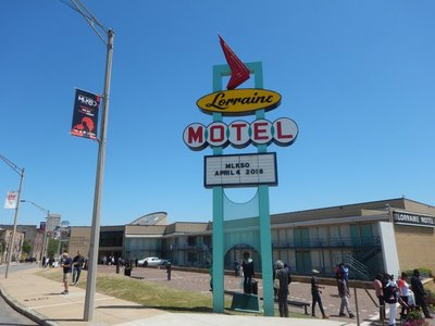 The Lorraine Motel was one of the few in Memphis open to black guests in the 1960s; Martin Luther King Jr was assassinated here on April 4, 1968