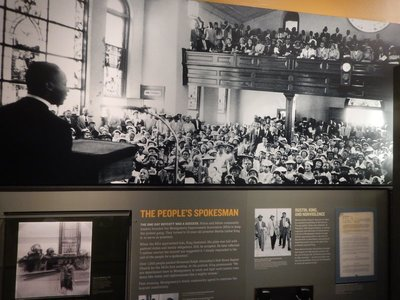 MLK led the Montgomery bus boycott which proved very effective by economically crippling the city bus service; in 1956 a federal court ruled that Alabama's racial segregation laws for buses were unconstitutional