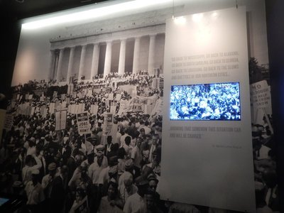 More than 200,000 demonstrators took part in the famous 1963 March on Washington which pressured President Kennedy to initiate a strong federal civil rights bill in Congress