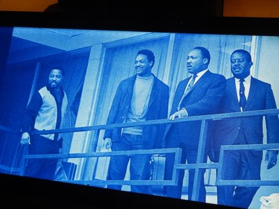 A day before he was assassinated in virtually the same place, MLK gathered with Hosea Williams, Jesse Jackson and Ralph Abernathy