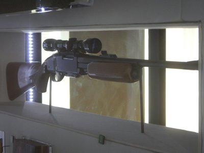 Springfield caliber Remington Gamemaster rifle with telescopic scope that Ray used to assassinate MLK; despite recanting his confession, Ray took a polygraph test that confirmed he was the assassin