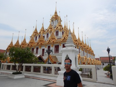 Loha Prasat, aka the Metal Castle, is a Buddhist temple with 37 metal spires representing the 37 Buddhist virtues built in 1846; it was very peaceful without many tourists and the view from the top was impressive