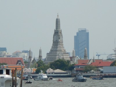 The 17th century Wat Arun was my favorite Buddhist temple in Bangkok with its Gaudi-like design; the 80 meter spire used to be the tallest structure in the city until the advent of the modern skyscraper
