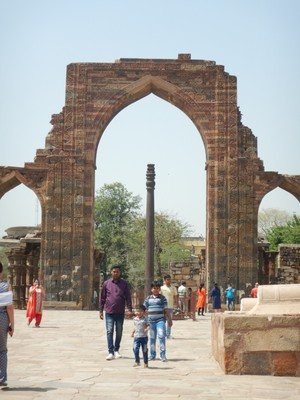 The Iron Pillar of Delhi is 24 ft high, weighs 13000 lbs and was constructed in 402 AD; it has attracted the attention of materials scientists because of its high resistance to corrosion
