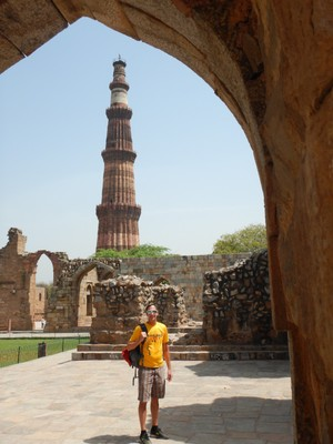 Qutub Minar, a UNESCO World Heritage Site, is a 73 m tapering tower of five stories that was begun in 1192; the mosque complex is one of the earliest that survives in the Indian subcontinent