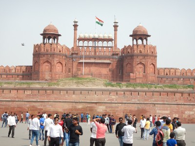 The Lahore Gate of the Red Fort, the main residence of the emperors of the Mughal dynasty for nearly 200 years, until 1856