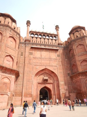 The Red Fort was built by Mughal Emperor Shah Jahan (who also built the Taj Mahal) as his ruling palace in 1648; it is in the center of Delhi and a UNESCO World Heritage Site