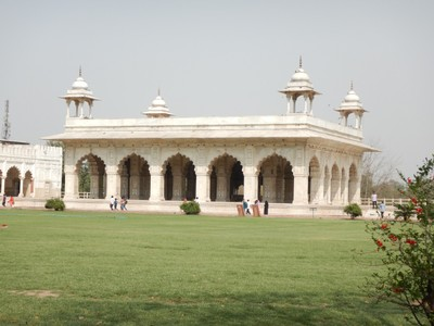 The residence of the sultan's main wife at the Red Fort; the Fort has an area of 255 acres enclosed by 1.5 miles of defensive walls,punctuated by turrets and bastions and varying in height from 59 ft on the river side to 108 ft on the city side
