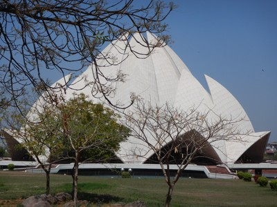 The Lotus Temple is open for prayers and meditation by people who follow any religion; the lotus symbolizes 4 religions - Hinduism, Buddhism, Islam and Jainism