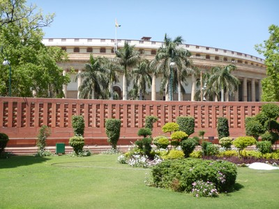 The Parliament House, conceived in the Imperial style, has an open verandah and 144 columns; being driven around Delhi seems like a near death experience and it's best to just not watch