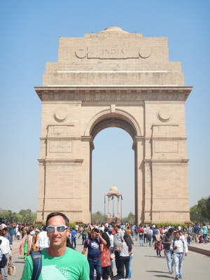 The India Gate is the most famous landmark in Delhi, built in 1931, to honor more than 70000 soldiers killed in World War I; drivers will honk constantly even when in bumper to bumper traffic (as if that will help!)