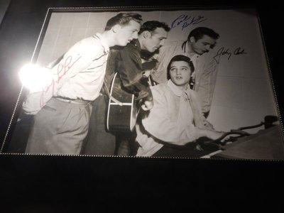 Known as the Million Dollar Quartet - Jerry Lee Lewis, Carl Perkins, Elvis and Johnny Cash; Johnny ended up with 17 Grammy awards
