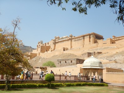 The Amber Palace was the residence of the Rajput Maharajas and their families; the current Amber Palace, was created in the late 16th century