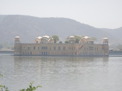 Jal Mahal is a five storied palace, of which four floors remain underwater when the lake is full and the top floor is exposed; millions of dollars have been spent to clean up the lake hoping to convert the palace to a hotel