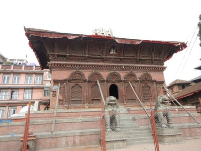 Tbe Mahadev Parvati temple is dedicated to the Hindu gods Shiva and Parvati; located on Durbar Square, tourists have to pay $9 to enter the UNESCO area