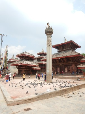 Jagganath Temple, built in 1563, is widely known for the erotic embellishments carved on the roof struts; it's the oldest structure on Durbar Square