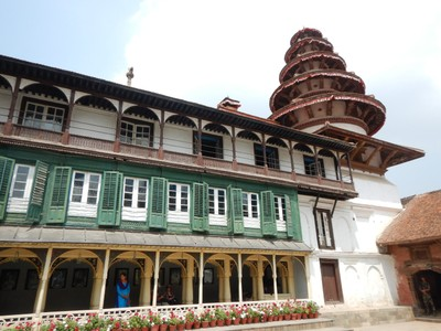 The Hanumandhoka Palace, dating from the mid 16th century, is spread over 5 acres; the palace complex is a series of 14 courtyards but most of it has been closed due to earthquake damage