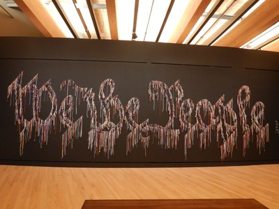 We the People, Nari Ward, 2015; one of my favorite pieces, this huge work is made from old shoelaces and was shown at the Contemporary Arts Museum in Houston last year