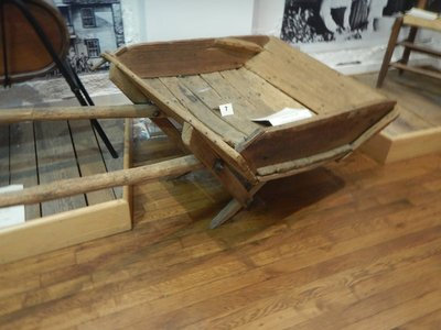 Before there was Home Depot settlers had to make everything; this 1890 wheelbarrow even has removable sides for versatility