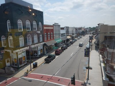 Downtown Mount Airy has changed little over the decades; the town is an hour northwest of Greensboro