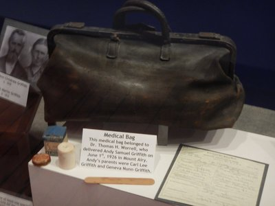 Medical bag belonging to the doctor who delivered Andy Griffith on June 1, 1926; amazing most women didn't die during childbirth hundreds of years ago