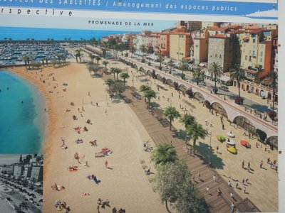 A huge development project is underway to create a sandy beach and promenade to further beautify Menton