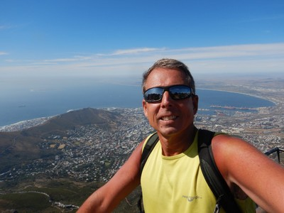 I was elated to finally reach the top of Table Mountain; I hiked up it 3 1/2 years ago taking a different route but this route was much longer with much more up and down