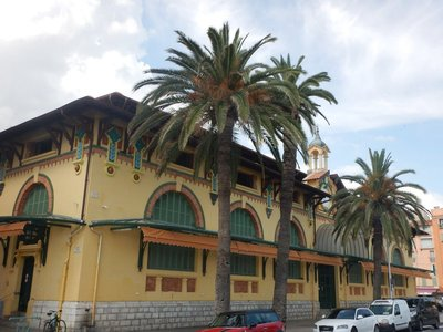 The local market was housed in this gorgeous building; William Butler Yeats, the Irish poet, died in Menton