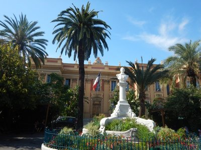 Orient Palace; Menton sister cities include Montreux, Switzerland and Laguna Beach