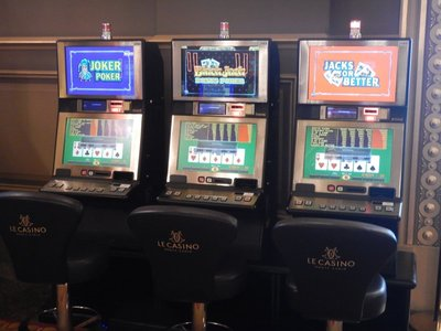 The casino had my mom's favorite video poker games, but the minimum bet was one euro which she would view as too much