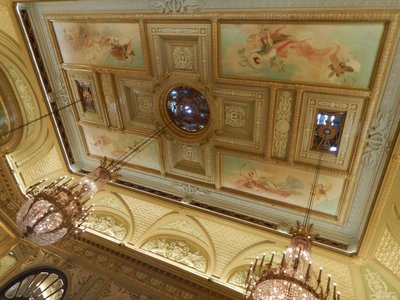 The ceilings in the Casino were works of art; supposedly 7 million people a year take selfies in front of the Casino