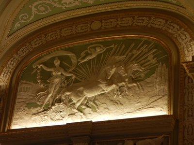 Splendid marble art at the Casino; the first ever women's Olympiad was held in the Casino gardens in 1921 to protest the International Olympic Committee's decision to not have women's events in the 1924 Olympics