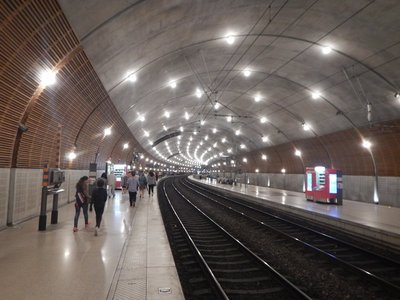 The Monaco train station is underground so you see just a glimpse of the principality going in and out of the tunnel