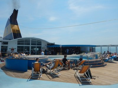 Ideal weather made for a pleasant ferry ride from Nice to Bastia; the pedestrian price was only around $50
