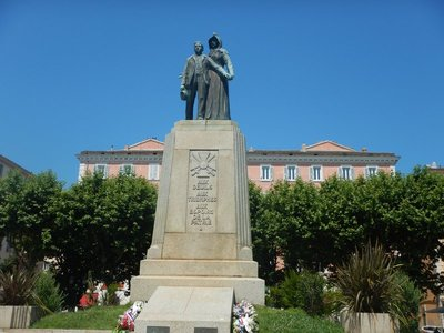 More than 11000 Corsicans were killed in World War I; the island is 31 miles west of the Italian island of Elba