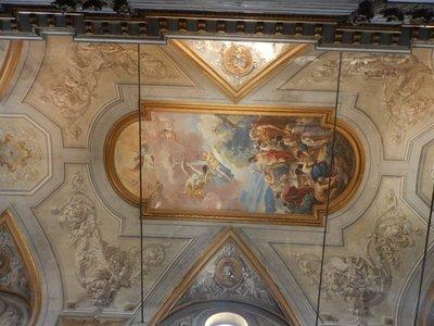 Gorgeous ceiling fresco at Church of Saint John the Baptist; Bastia was named after the Italian word for port, bastiglia