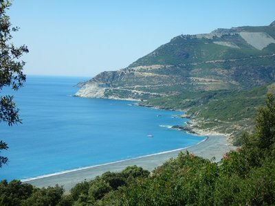 Often the only sign of civilization was the scarring on the land where the road was built around the Cap Corse peninsula