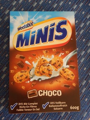 I was excited to find my second favorite European cereal; my favorite is Weetabix Minis Fruit and Nut