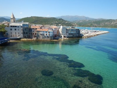Even right next to town, the water is crystal clear; the town is very small and takes maybe 30 minutes to see if you take your time